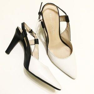 Franco Sarto Women's Heels Black White Size 6